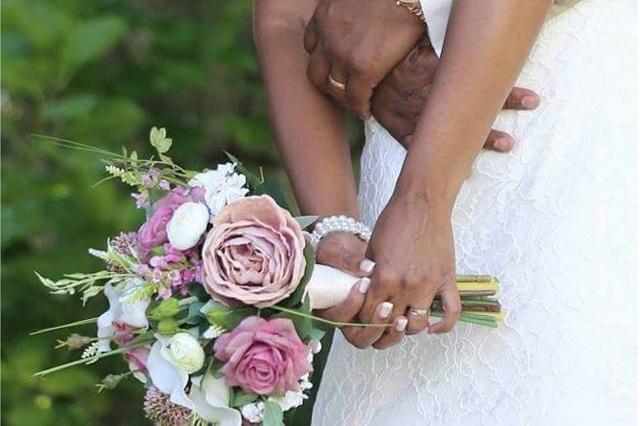 bruidsboeket zijde