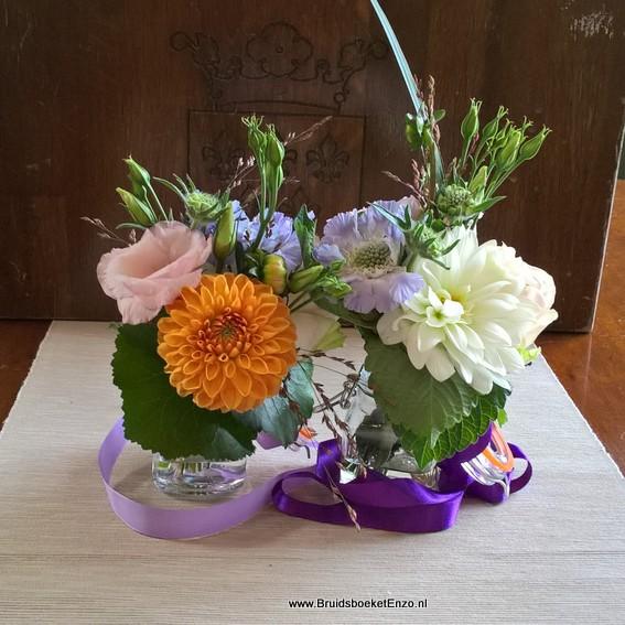 Centerpieces statafel bloemen dinertafel bloemen for Bloemen decoratie